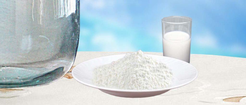 очистка алкоголя сухим молоком