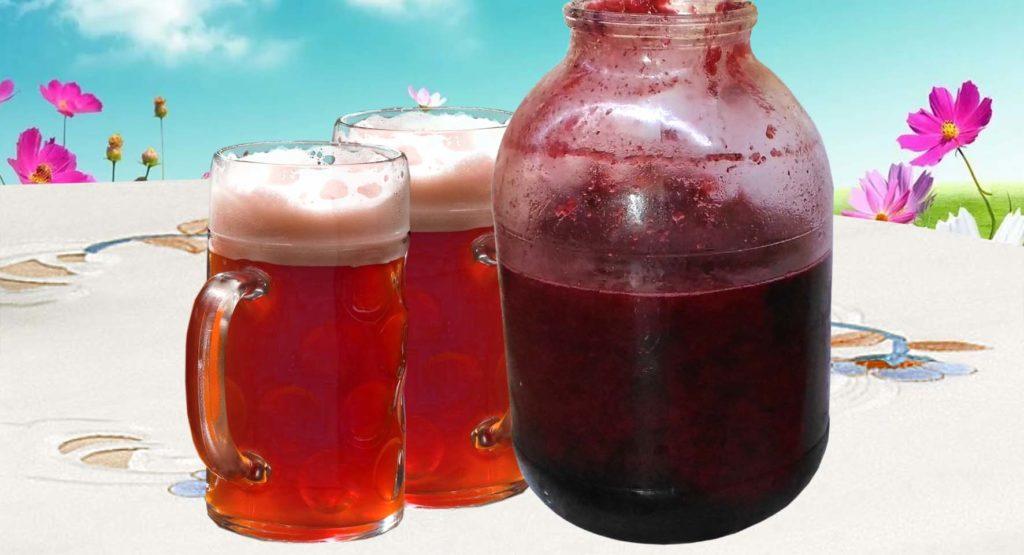 фруктово-ягодное пиво из варенья